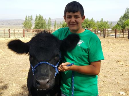 Waylon and his steer